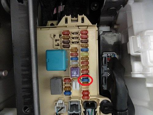 ムーヴ(LA100) 電源取り出し ヒューズボックス