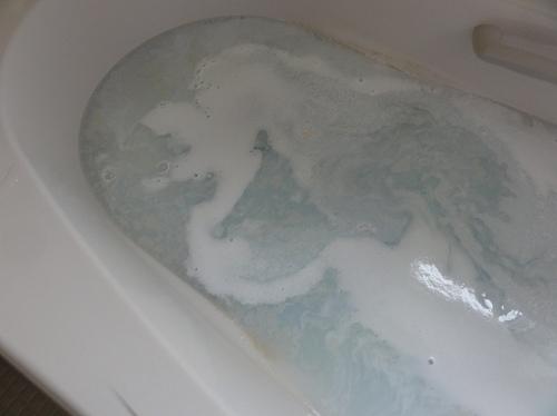 三菱エコキュート 循環洗浄中