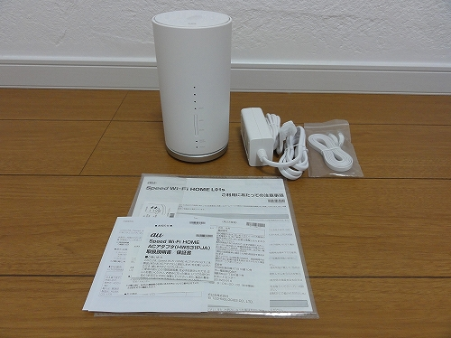 WiMAX 機種変更 Speed Wi-Fi HOME L01s 本体 ACアダプタ LANケーブル