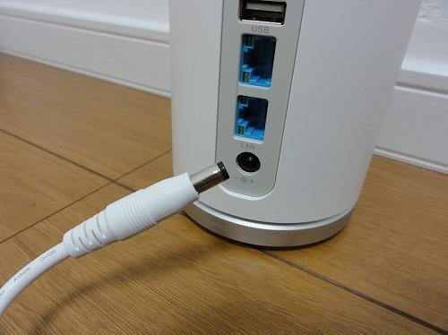WiMAX Speed Wi-Fi HOME L01s ACアダプタ接続