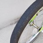 子ども用自転車 メンテナンス フロントタイヤ 減り具合