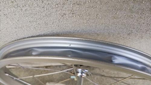 子ども用自転車 フロントタイヤ交換 リムテープ 張り替え