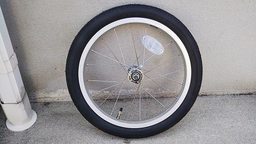 子ども用自転車 フロントタイヤ交換