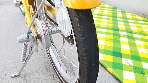 子ども用自転車 リアタイヤ交換 減り具合