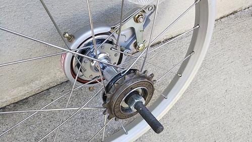子ども用自転車 リアタイヤ交換 ハブ カセット 清掃