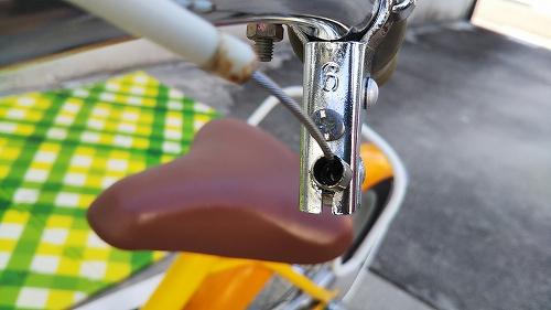 子ども用自転車 ブレーキ アウターケーブル サビ